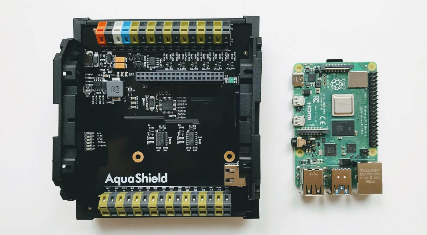 AquaShield_control_module_and_raspberrypi